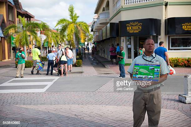 Man offering tours and beach transport on St. Kitts