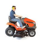 Man on a Mower