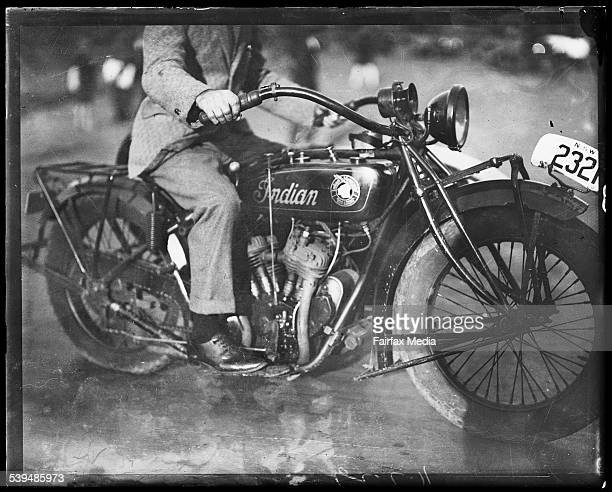 Man on an Indian motorcycle New South Wales ca 1930s [picture] [nlapicvn6296152]