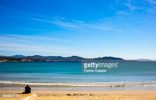 Man on beach (Provence - france)