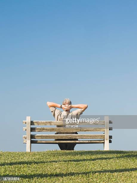 Man on Bench Series