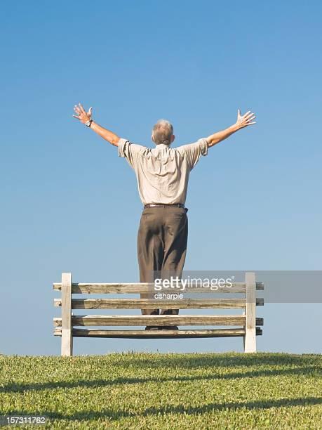 Man on Bench Series