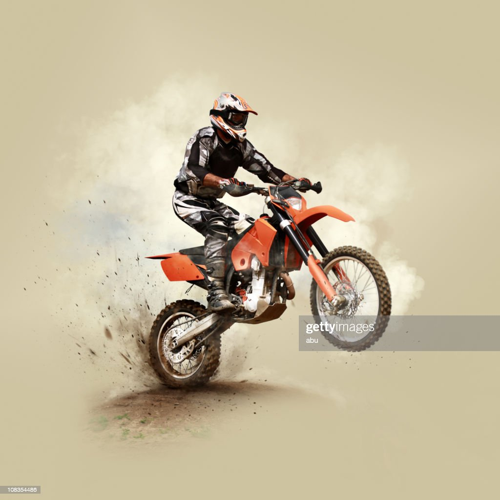 Man on his sport motor
