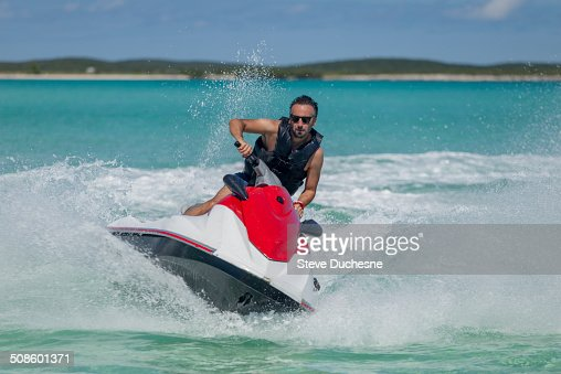 Man on jet ski : Foto de stock