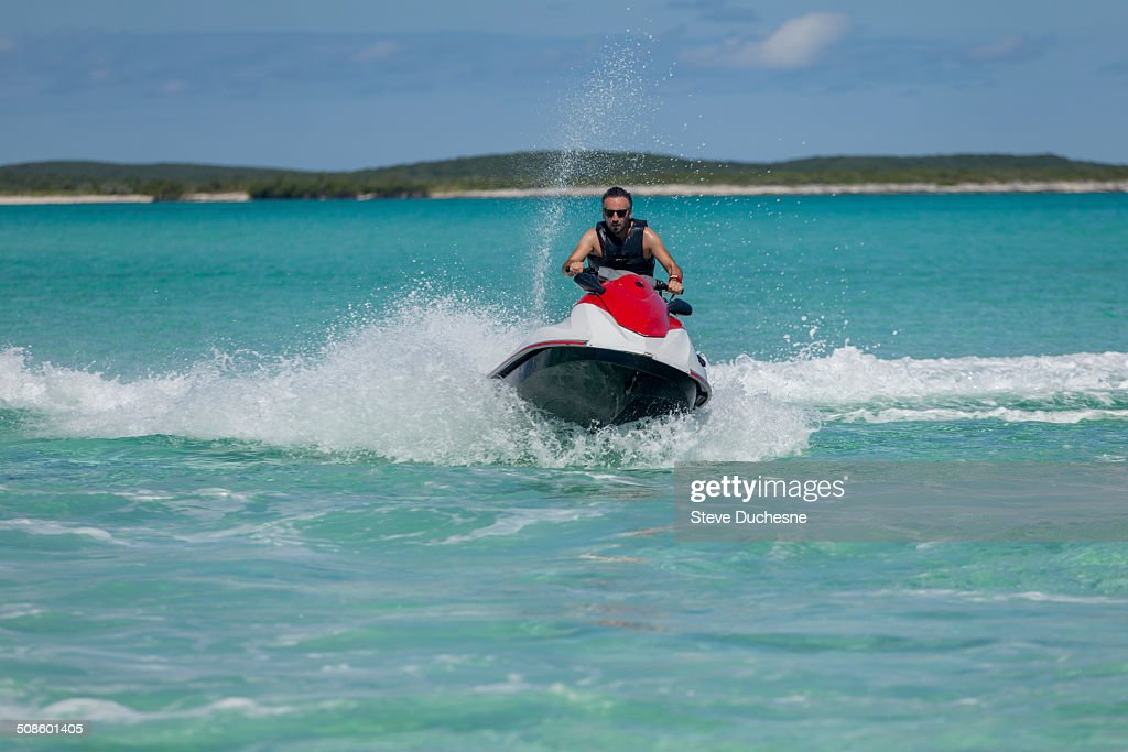 Man on jet ski : Stock Photo