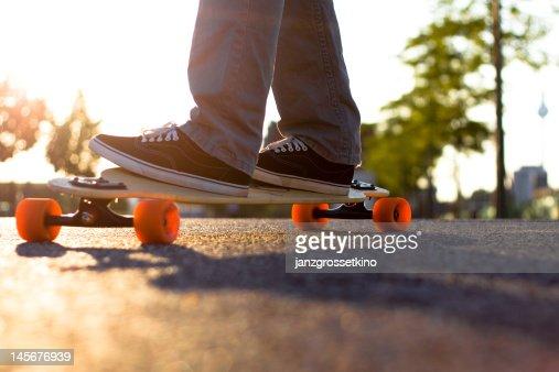 Man on longboard : Stock Photo