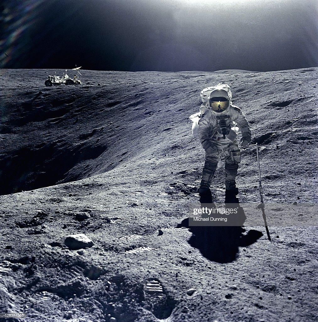 Man on Moon : Stock Photo