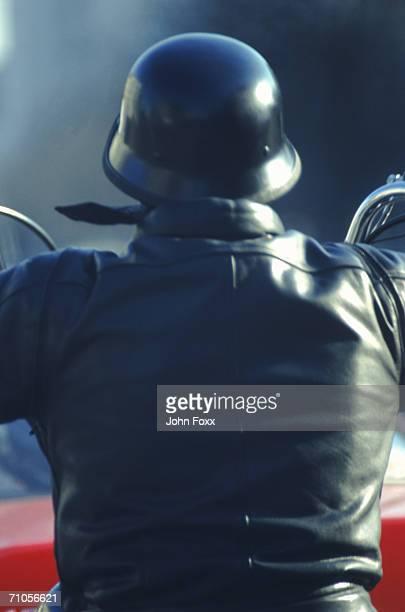 man on motorcycle