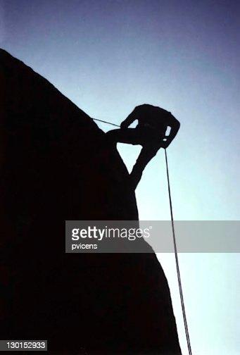 Man on muntain : Stock Photo