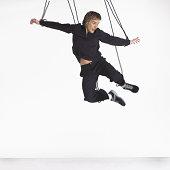 Man on strings