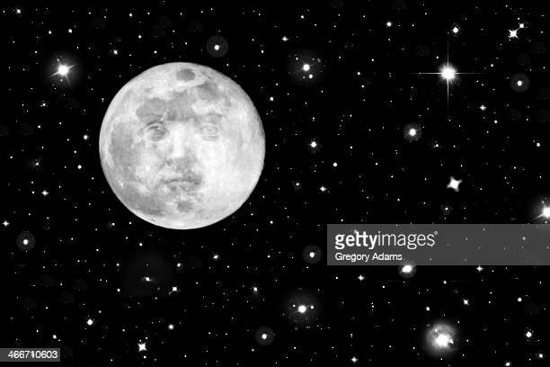 Man on the Moon - Black and White