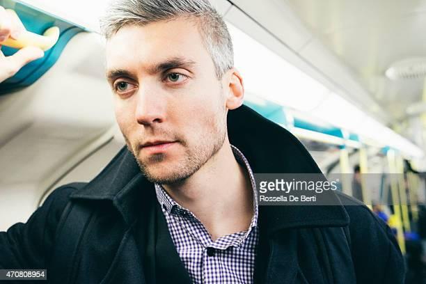 Man On The Subway Train