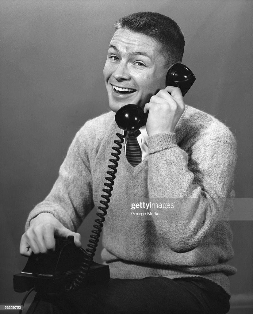 Man on the telephone : Stock Photo