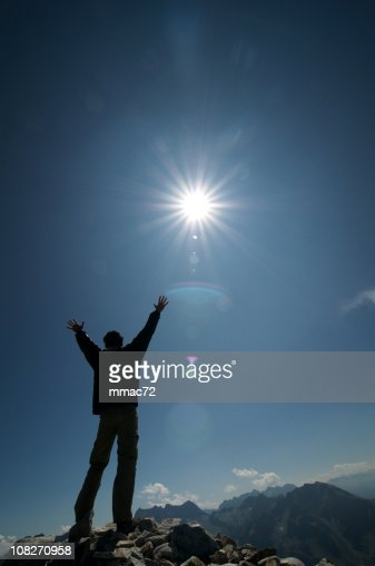 Man on the top : Stock Photo