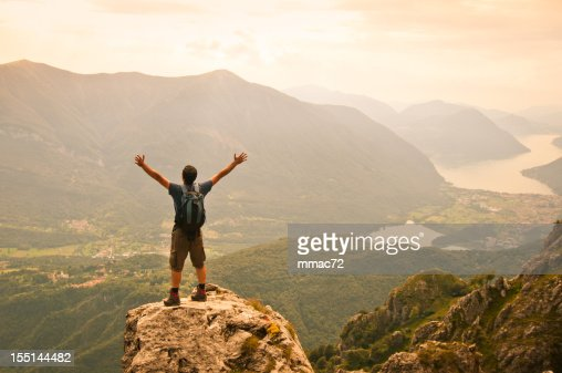 Man on Top of the Mountain