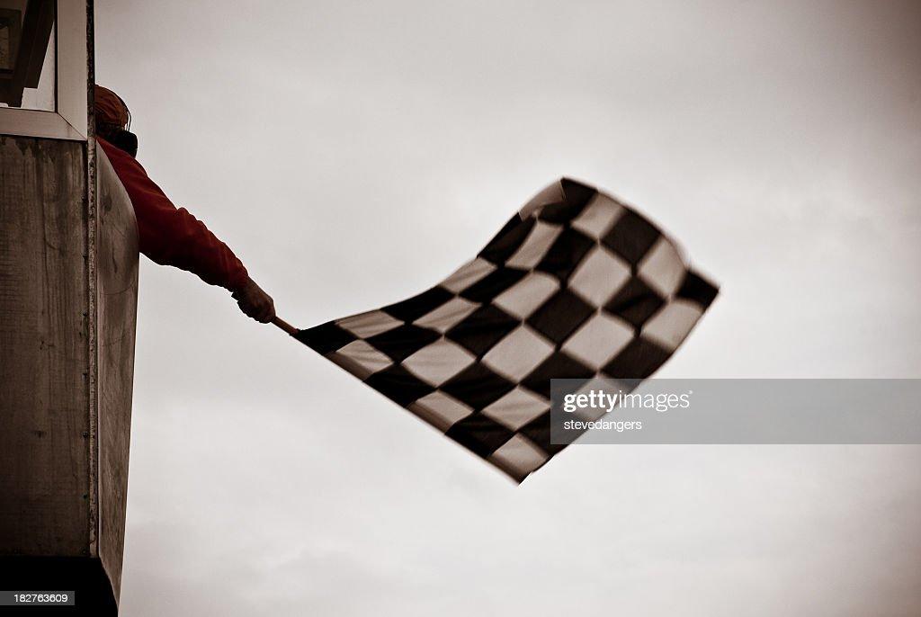 Bandiera a scacchi : Foto stock