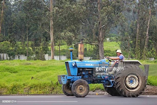 Man on Tractor - Quito, Ecuador