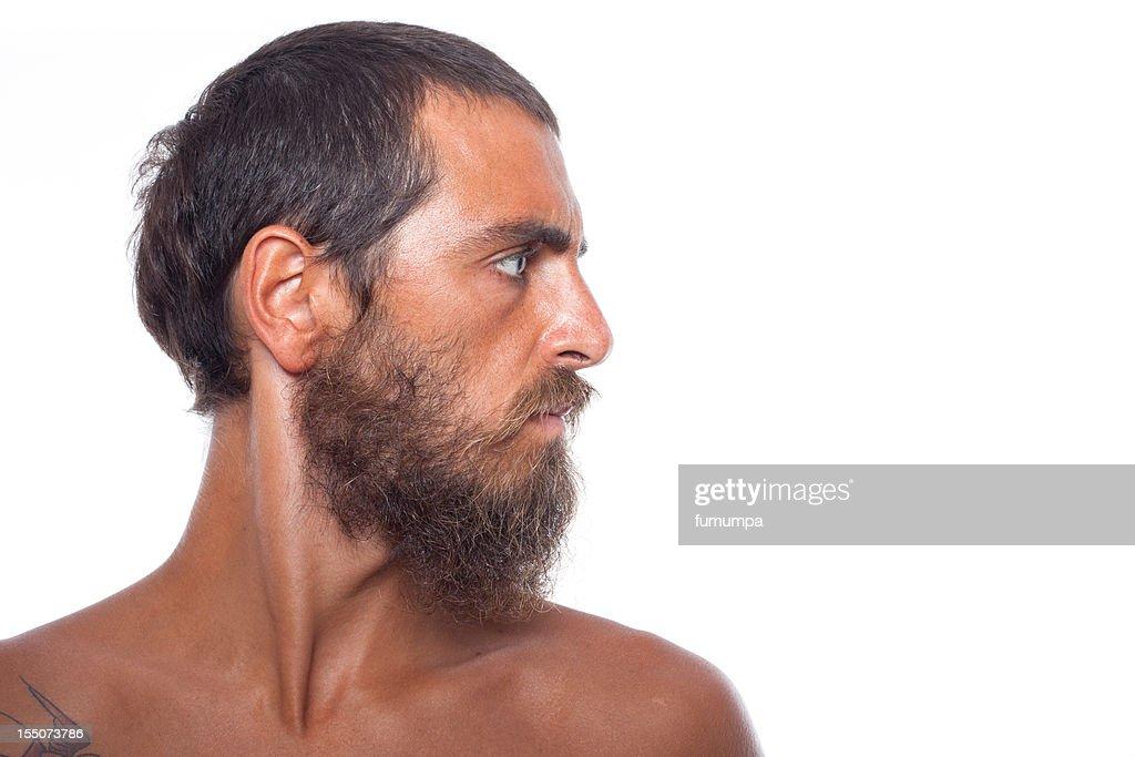 man on white background : Stock Photo