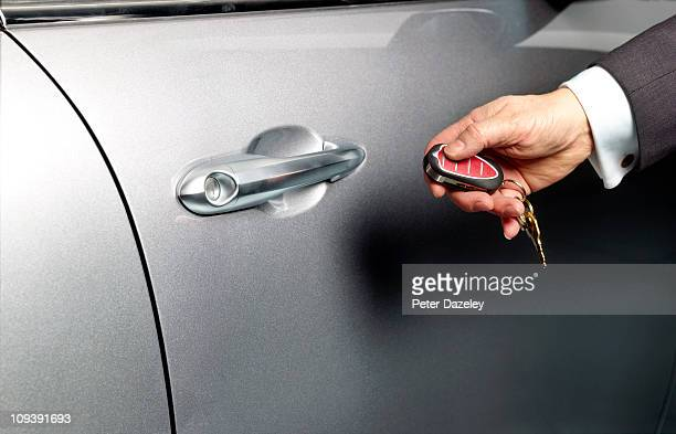 Man opening car door