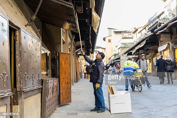Man Opens Shop on the Golden Bridge
