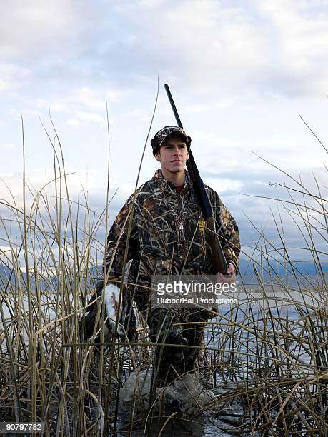 man out hunting