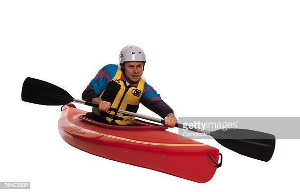 Man paddling in kayak