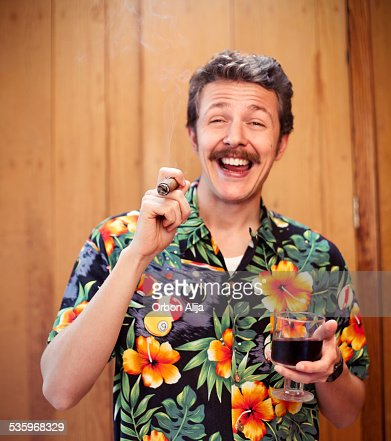 Man partying : Stock Photo