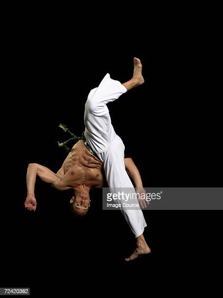 Man performing capoeira