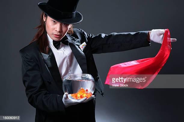 Man performing magic
