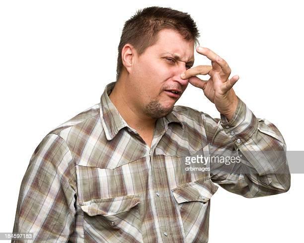 Man Pinching Nose