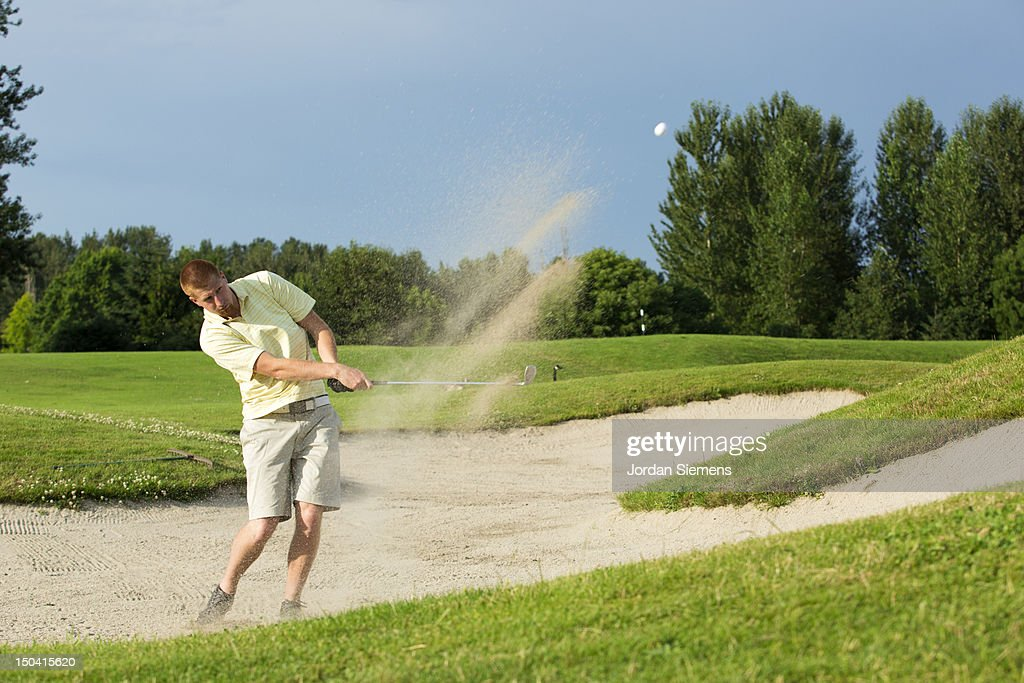 A man playing a round of golf.