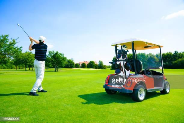 man golf spielen