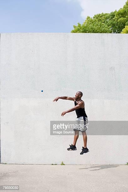 A man playing handball