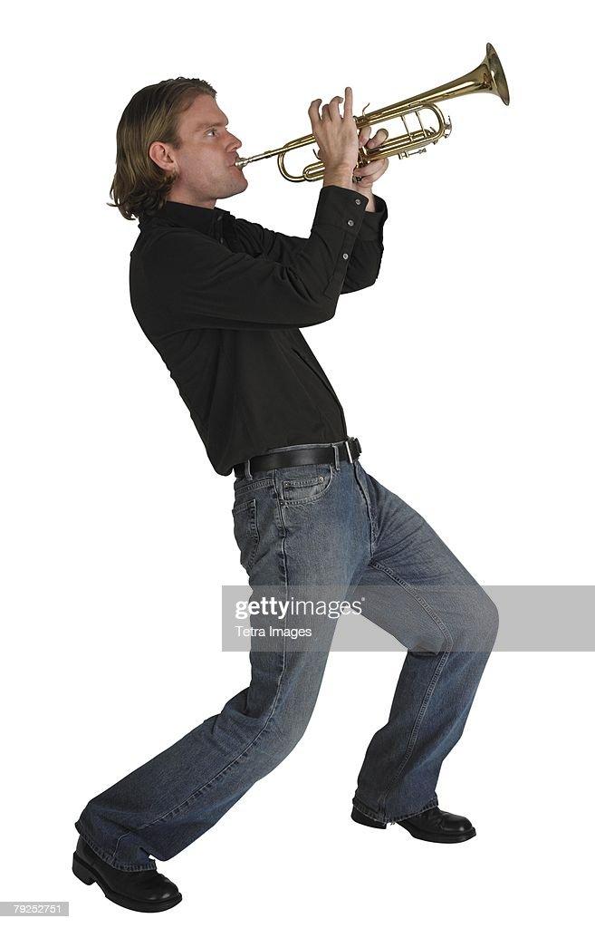 Man playing horn