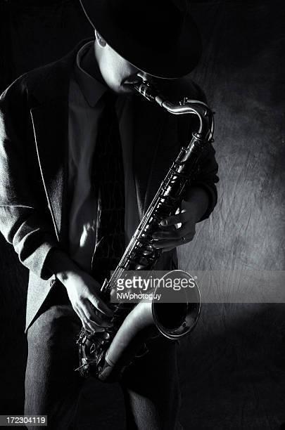 Mann spielen am Saxophon-Musik Jazz