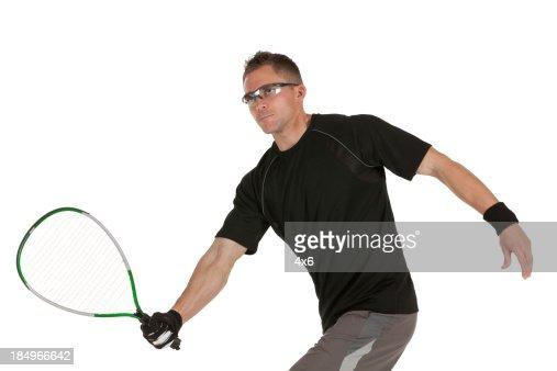 Man playing squash