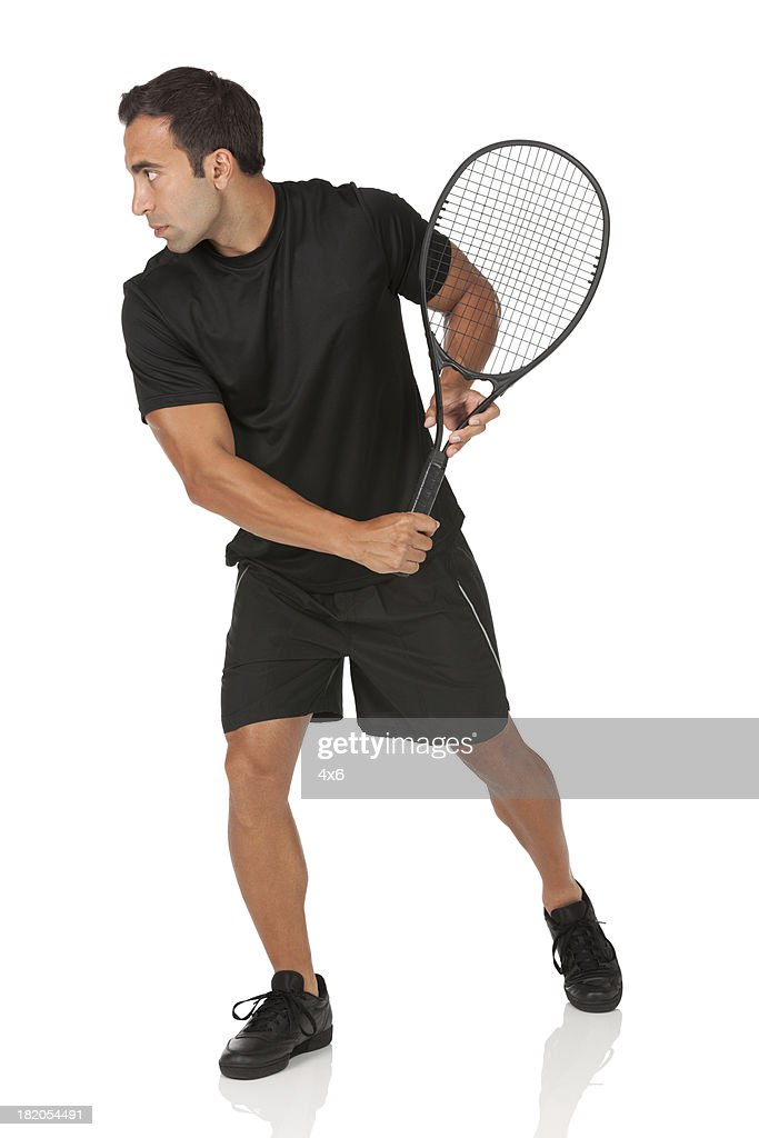 Man playing tennis : Stock Photo