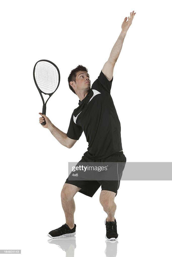 Man playing tennis : Stock Photo