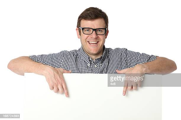 Man pointing at a whiteboard