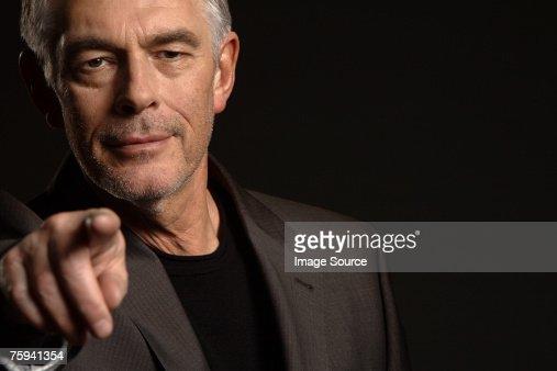Man pointing : Stock Photo