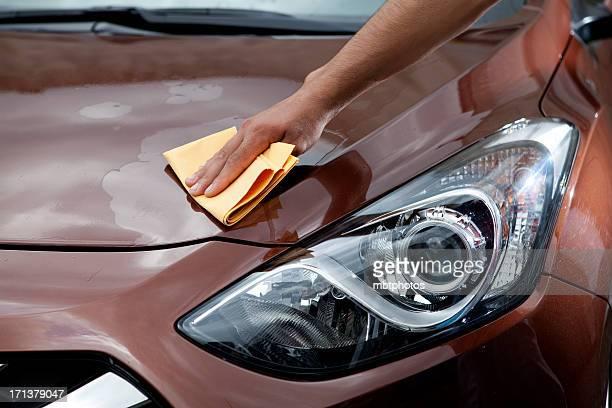 Mann Polieren Auto-Kapuze
