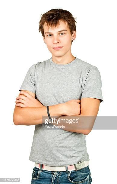 Homme portrait sur blanc
