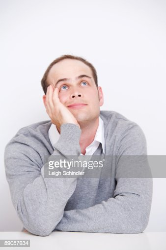 Man Poses : Stock Photo