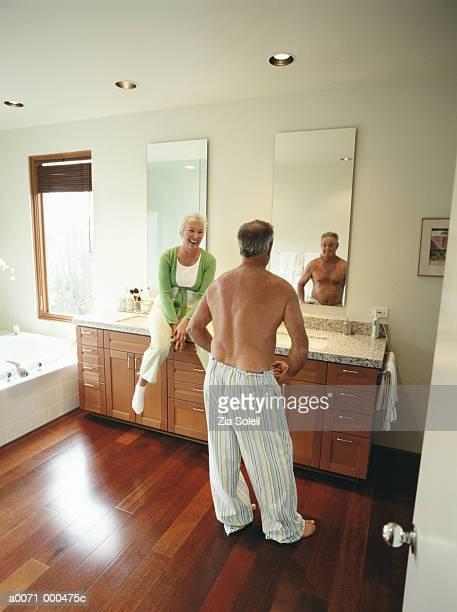 Man Posing in MirrorAt home