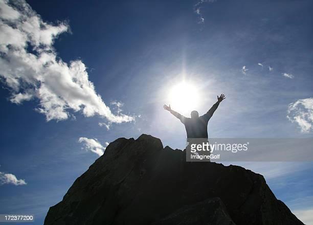 Man Praising God on a Mountain