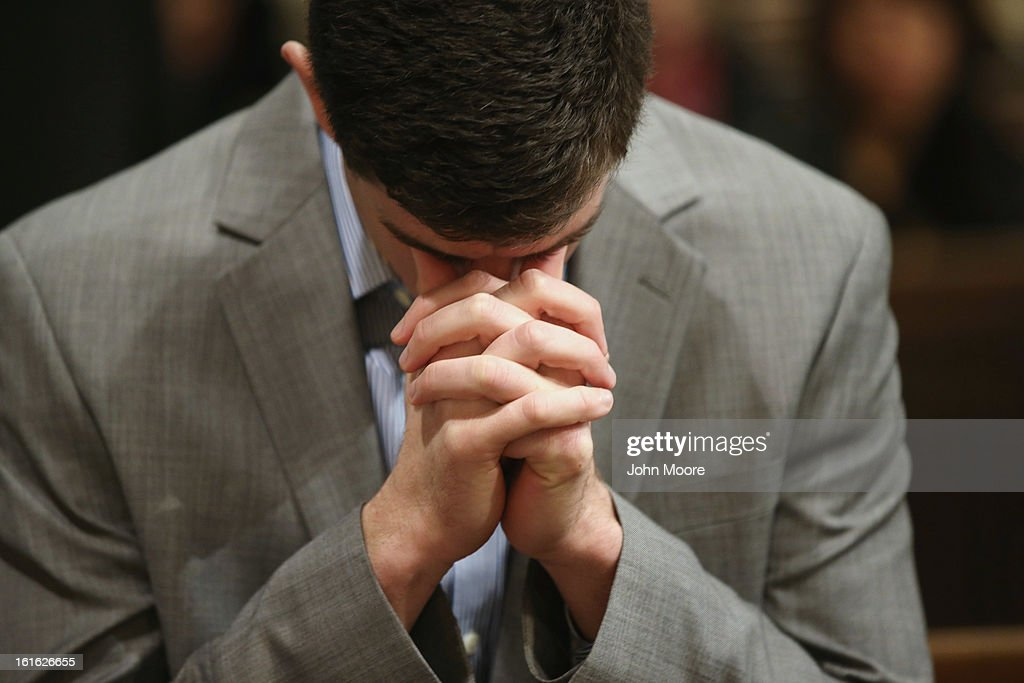 A man prays on Ash Wednesday at St Patrick's Catholic Cathedral on February 13 2013 in New York City Ash Wednesday marks the beginning of Lent a...