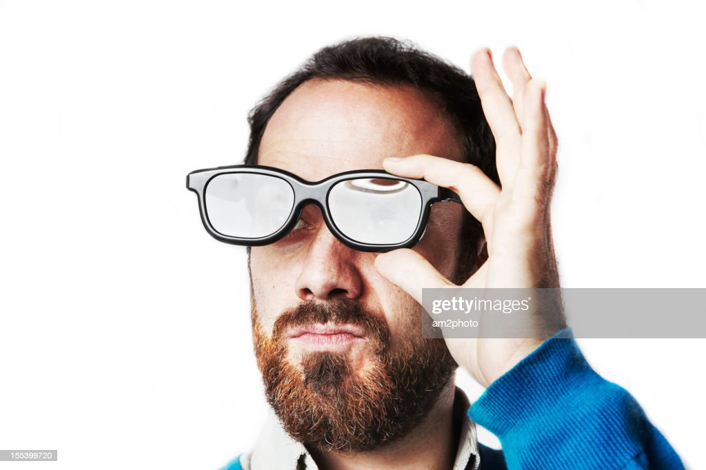 Man proud with a 3d glasses