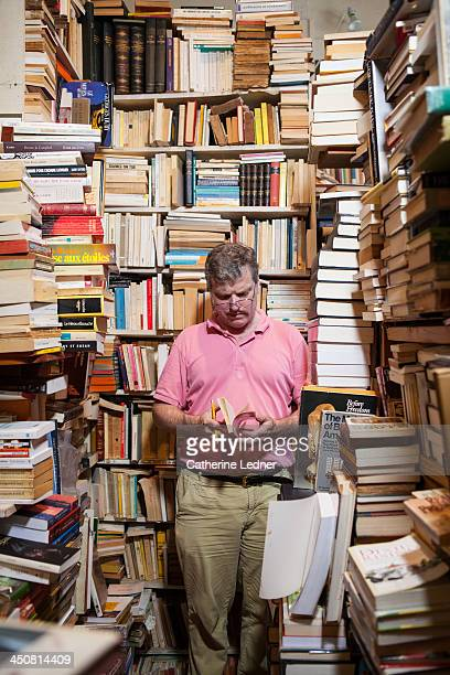 Man reading in booksotre