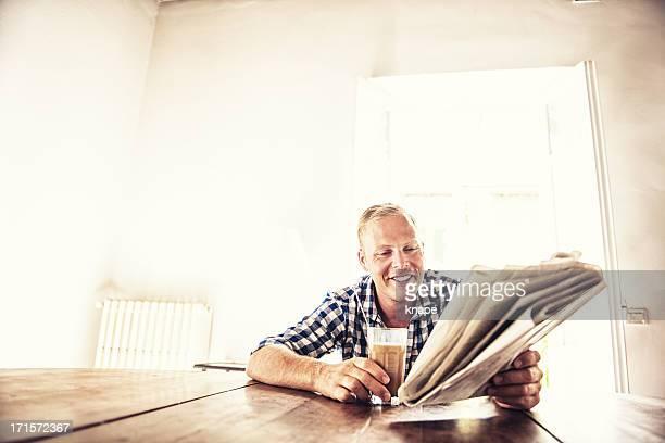 Man reading the news
