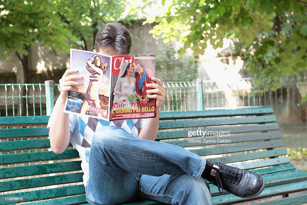 A man reads an Italian magazine that shows pictures of the the Royal Highnesses Prince William, Duke of Cambridge and Catherine, Duchess of Cambridge on May 03, 2011 in Milan, Italy. The marriage of the second in line to the British throne was led by the Archbishop of Canterbury and was attended by 1900 guests, including foreign Royal family members and heads of state. Thousands of well-wishers from around the world flocked to London to witness the spectacle and pageantry of the Royal Wedding.